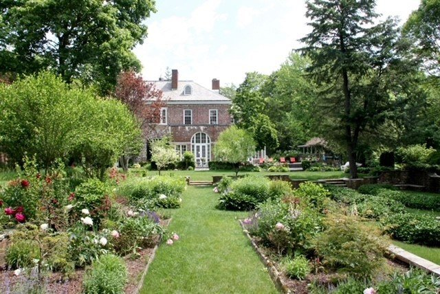 Gardens at the historic Holden McGinley House